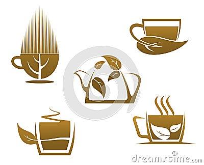 tasses de tisane image libre de droits image 32939456. Black Bedroom Furniture Sets. Home Design Ideas