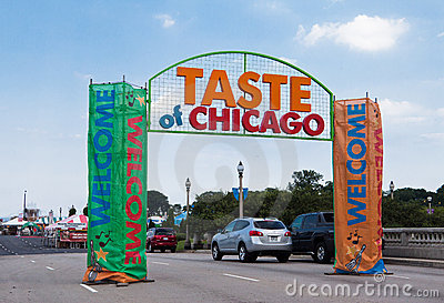 Taste of Chicago Party Editorial Photo