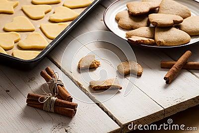 Taste just baked Christmas gingerbread cookies