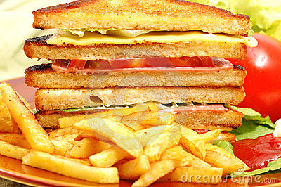 Tasteful club sandwich