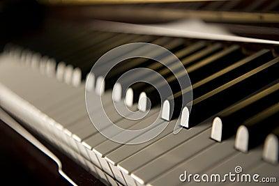 Tasti del piano di jazz
