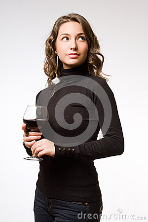 Tasting great wine.