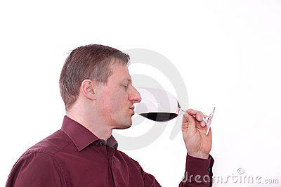Tasting a red wine