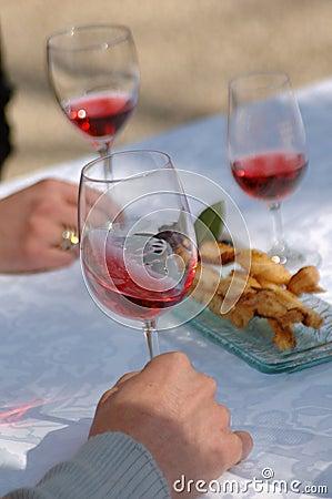 Tasting ros  wine