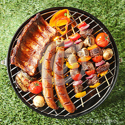 Free Tasty Assortment Of Meat On A Summer Barbecue Royalty Free Stock Photography - 50246827