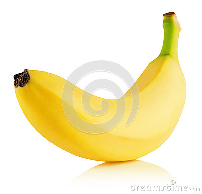 Free Tasty Banana Isolated On The White Background Royalty Free Stock Photography - 48549877