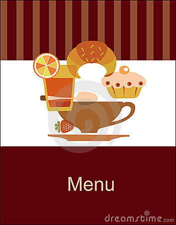 Tasty breakfast menu design template