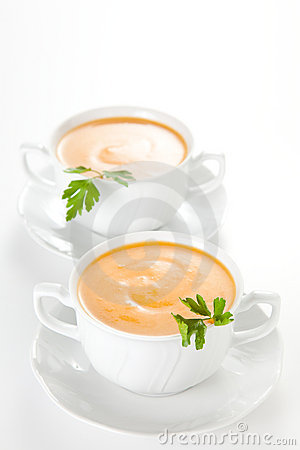 Tasty Carrots puree with parsley