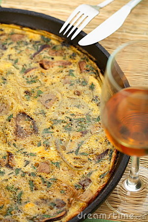 Tasty casserole with mushrooms