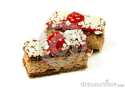 Tasty cherry cake for dessert