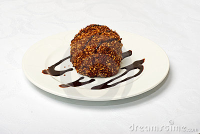 Tasty  Chocolate Cake On White Plate