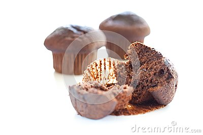 Tasty chocolate muffin