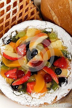 Tasty colorful tart