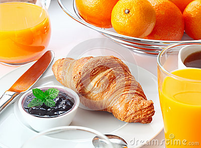 Tasty Continental breakfast