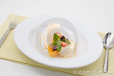 Tasty cream dessert