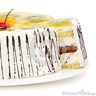 Tasty creamy cake