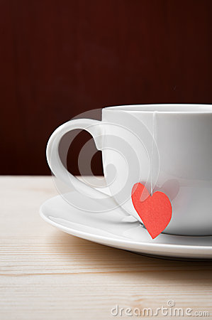Tasty cup of tea made with love