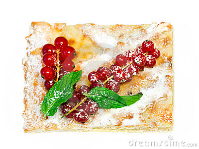 Tasty dessert with Red currant