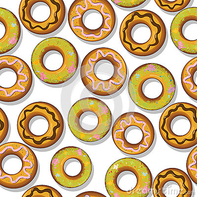 Tasty donuts pattern