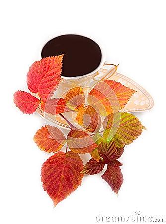 najromanticnija soljica za kafu...caj Tasty-drink-and-red-leaves-thumb6971081