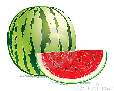 Tasty, fresh watermelon