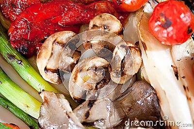 Tasty fried vegetables.
