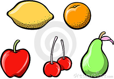 Tasty Fruit Set Vector