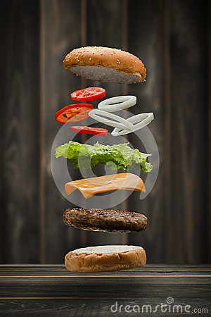 Free Tasty Grilled Beef Burger Stock Photography - 86398322