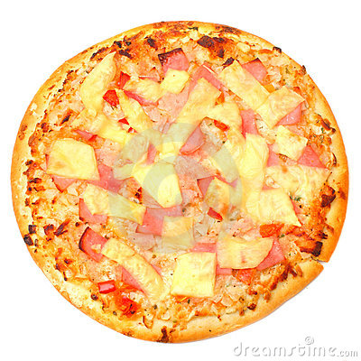 Tasty Ham and Pineapple Pizza.