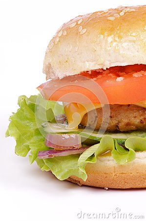 Tasty Hamburger clipping path