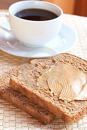 Free Tasty Healthy Wholewheat Bread And Coffee Stock Images - 14609664