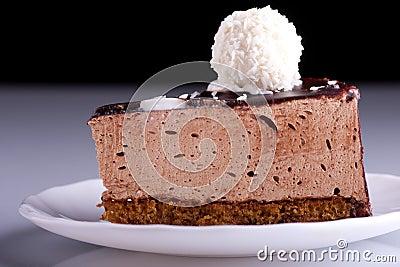 Tasty hocolate cake on the plate