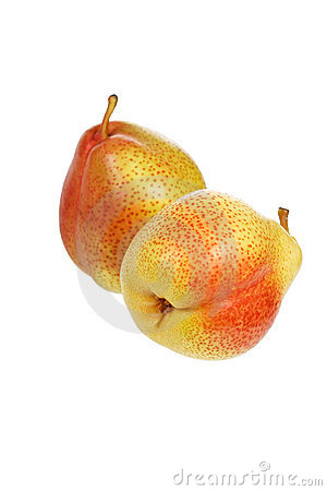 Tasty and isolated pears