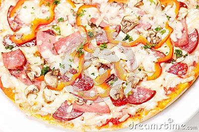 Tasty Italian Pepperoni pizza