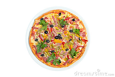 Tasty Italian pizza.Neapolitan,Close-up isolated