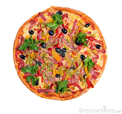 Tasty Italian pizza.Neapolitan isolated