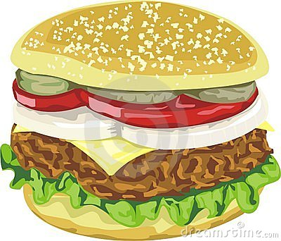 Tasty juicy hamburger