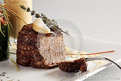 Tasty lamb steak
