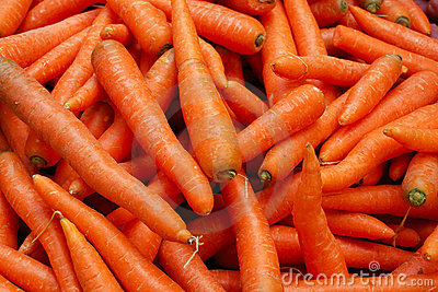 Tasty orange carrots