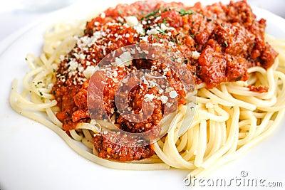 Tasty Pasta-Italian Meat Sauce Pasta Stock Photo - Image: 39108238