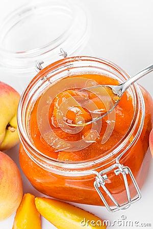 Tasty peach jam