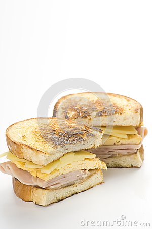 Tasty Sandwich Of Ham And Cheese Omelet Stock Images - Image: 9785684