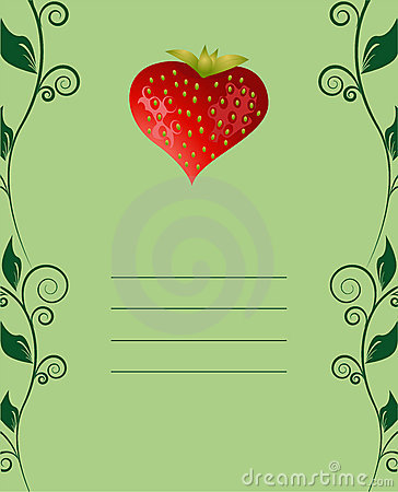 Tasty strawberry card