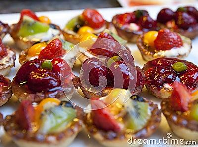 Tasty strawberry tarts
