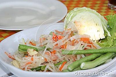 Tasty Thai Papaya salad