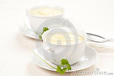 Tasty zucchini soup