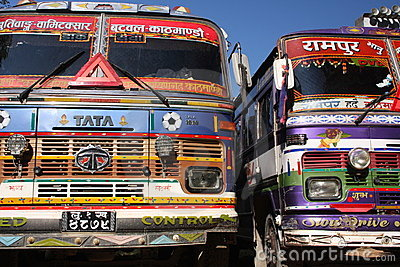 Tata trucks Editorial Photo