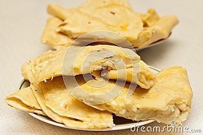 Tatar potato stuffed fried pastry