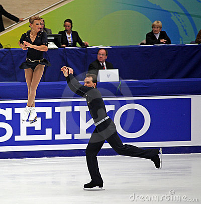Tatiana Volosozhar and Stanislav Morozov (UKR) Editorial Stock Photo