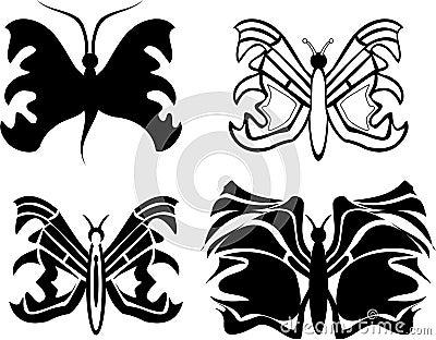 Tatoo van de vlinder